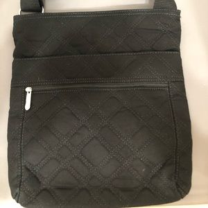 Thirty One Black Quilted Crossbody